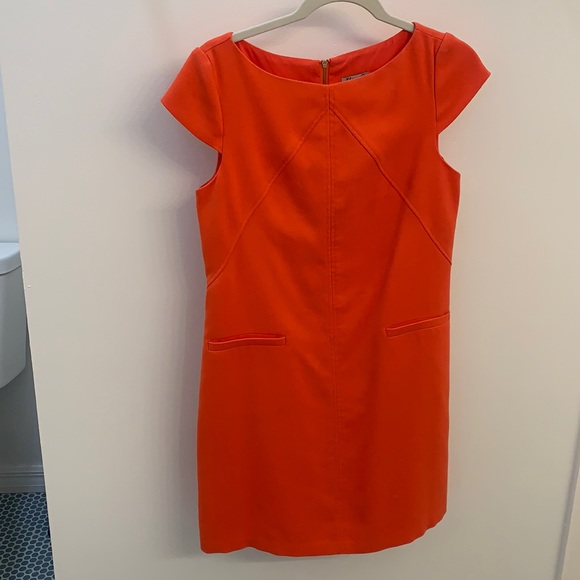 Coral Eliza J Cap Sleeve Dress